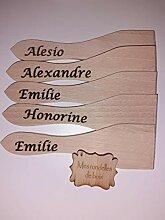 OUDE 5 spatules raclettes gravés à Customize
