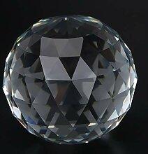 Oumefar Boule en verre transparent Prismes Boule