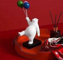 Ours en forme de ballon créatif, accessoires de