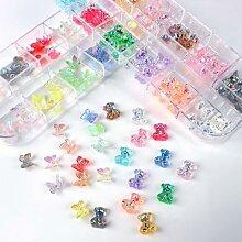 Ours/nœud papillon 3D en résine, 60 pièces,