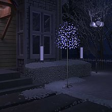 OUSEE Sapin de Noël 220 LED Bleues Cerisier en