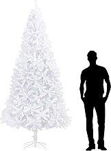 OUSEE Sapin de Noël Artificiel 300 cm Blanc