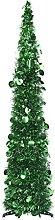 OUSEE Sapin de Noël Artificiel escamotable Vert