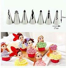 Outil de décoration de cupcakes, jupe bouffante