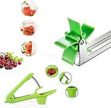 Outil de découpe rapide de la salade de fruits et