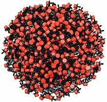 Outil de jardin- 500 pcs 8 trous rouges à débit