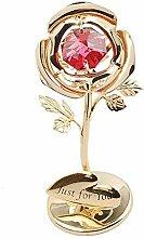 Outil de jardin- Verre Cristal Rose Fleur