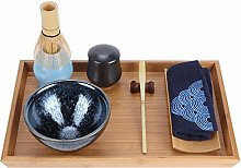 Outil de service de plateau à thé en bambou