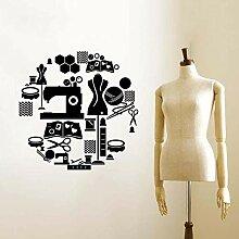Outils de couture Vinyle Stickers Muraux Tailleur