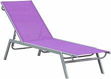 Outsunny - Bain de soleil transat - chaise longue