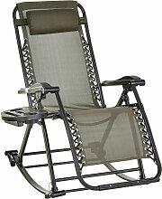 Outsunny - Chaise longue fauteuil à bascule