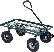 Outsunny - Chariot de transport jardin remorque à