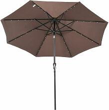 Outsunny - Parasol lumineux octogonal inclinable