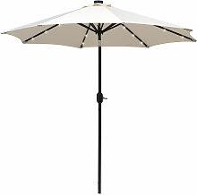 Outsunny - Parasol octogonal inclinable Ø 2,7 x