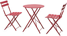 Outsunny - Salon de jardin bistro pliable - table