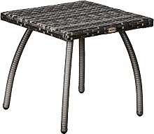 Outsunny Table Basse de Jardin Style Cosy Chic