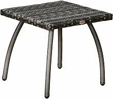 Outsunny - Table basse de jardin style cosy chic
