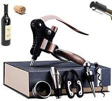 Ouvre-bouteille de vin rouge avec bouchon,