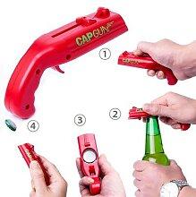 Ouvre-bouteille pistolet de bière drôle, lanceur