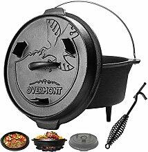 Overmont Dutch Oven Cocotte en Fonte [ Double