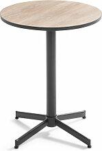 Oviala - Table bistrot ronde plateau céramique
