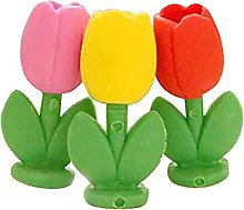 Oyfel Gomme Mignon Tulipe Fleur pour Ecole Ecolier