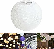 Oyfel. Lampion Papier Blanc Lot de 10 pièces 40cm