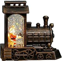 Oyrcvweuy Lanterne de Noël Père Noël en train