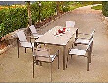 Ozalide 4463 Vira Ensemble Table + 6 Fauteuils