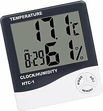 P Prettyia Horloge de Station Météo Thermomètre