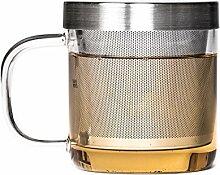 P & T Brewing Mug, Tasse de Verre, Borosilicate,