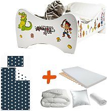 Pack 8en1 Lit Junior Jake le Pirate avec Matelas +