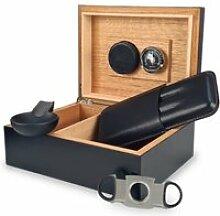 Pack cave à cigare en bois de cèdre noire avec