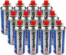 Pack de 12 cartouche gaz ALPENTECH 227g butane