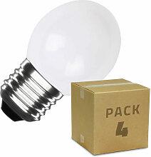 Pack de 4 Ampoules LED E27 G45 3W Blanche Blanc -