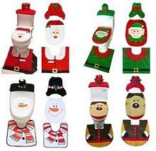 Pack de décoration pour toilettes : Père Noel /