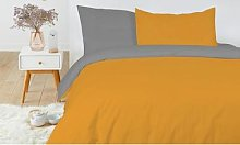 Pack de linge de lit bicolore: Rose-gris / 160 x