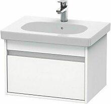 Pack meuble + lavabo Ketho KT0062 60cm - Blanc mat