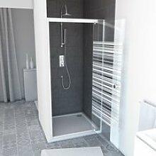 Pack paroi porte de douche 80x185 a ouverture