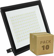 Pack Projecteur LED Solid 100W (10 Un) Blanc Froid