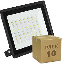 Pack Projecteur LED Solid 50W (10 Un) Blanc Chaud