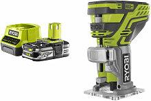Pack RYOBI Affleureuse à bois 18V OnePlus R18TR-0