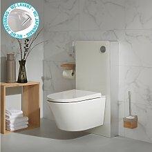 Pack wc avec cuvette lavante - Façade blanche -Wc
