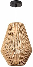 Paco Home Lampe suspendue LED E27 rotin boho