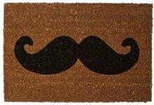 Paillasson en coco moustache