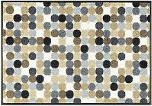 Paillasson en polyamide beige 50x75