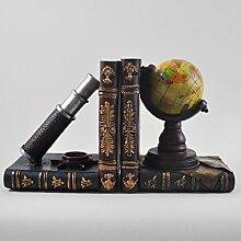 Paire de serres-livres pour mappemonde &
