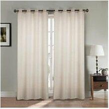 Paire double rideaux - 2x140x260 cm - effet lin -