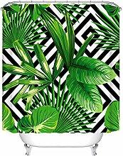 paisin Rideau de Douche certifié PVC Bambou Vert