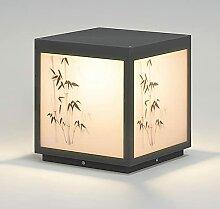 PAKUES-QO Lampe De Colonne en Forme De Cube Lampe